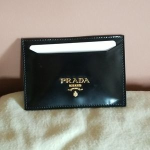 Prada Elegant leather card holder.